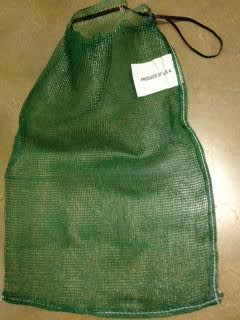 Onion Bag And Corn Side By Green Mesh Bags
