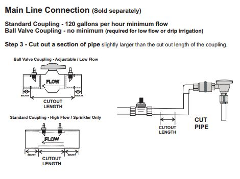 Ball Valve Coupling Connectors are used to connect the EZFLO – Ez Valve Wiring Diagram