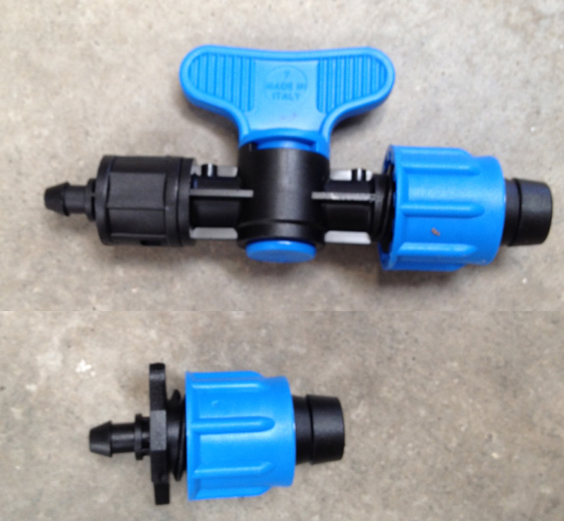 B ls or bv fittings for drip tape and