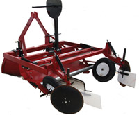 "RB-448. Compact Raised Bed Mulch Layer  with single drip attachment. Lays 36"", 42"" and 48""."
