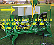Stainless Steel Dry Fertilizer Hopper for Model 2550 or 2600 Mulch Layers.  Carries 400 lb Fertilizer.